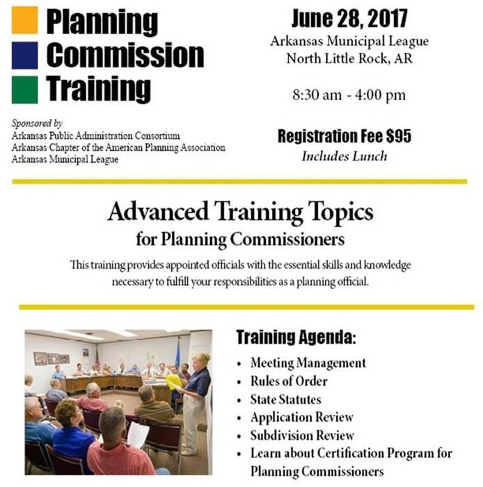 Arkansas Chapter Of The Apa Planning Commission Training 201
