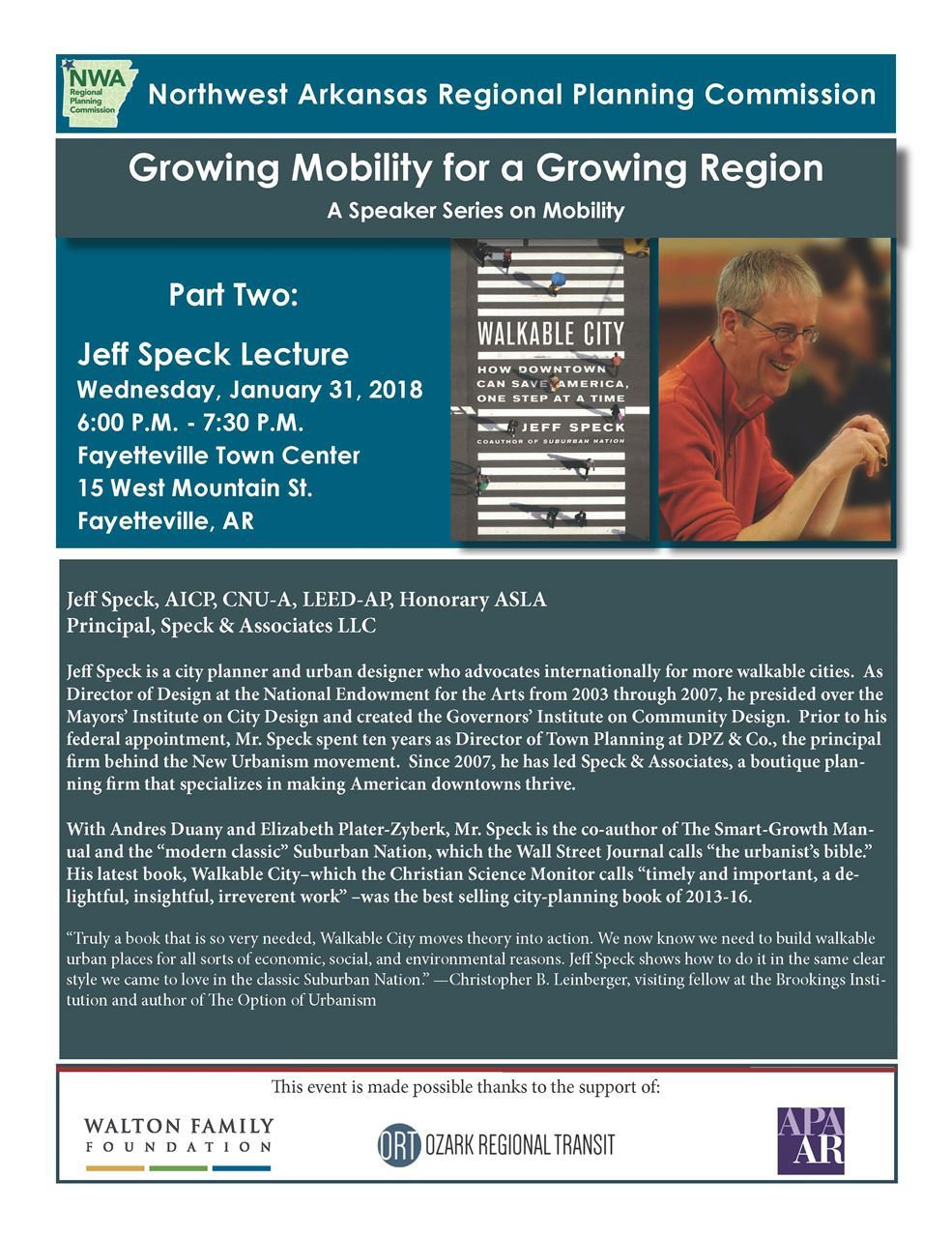Arkansas Chapter of the APA - Growing Mobility for a Growing Region